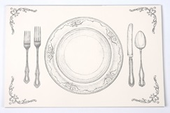 printed placemat custom design