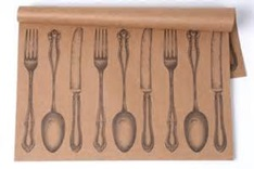 printed placemat restaurant utencils
