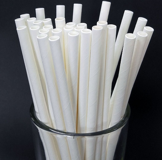 custom print straws black white restaurant paper